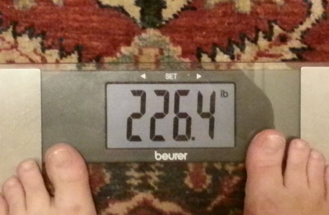Down 7lb from last time